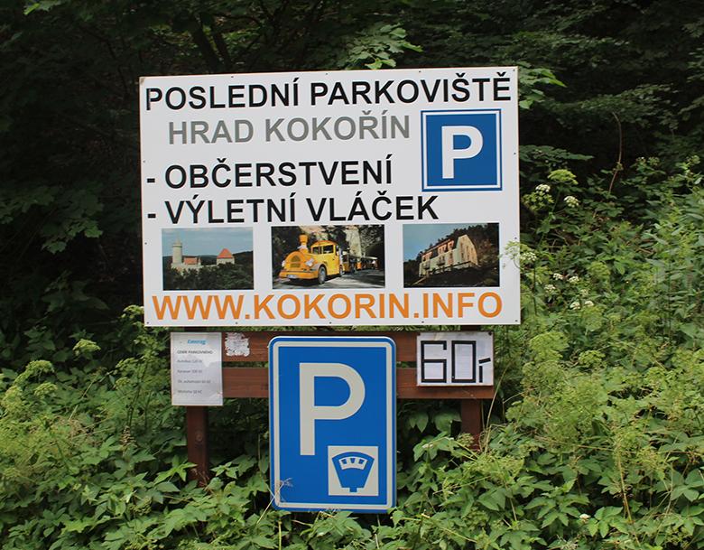 Fotografie: parkovivště Kokořín