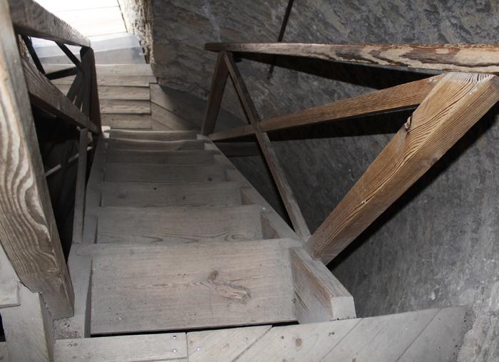 Fotografie: Schodiště na věž hradu Kokořín